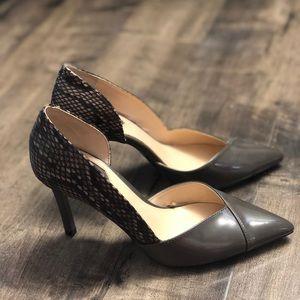 Zara heels with snake skin pattern